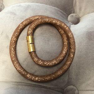 Swarovski Crystal Wrap Bracelet - Pink/Rose Gold